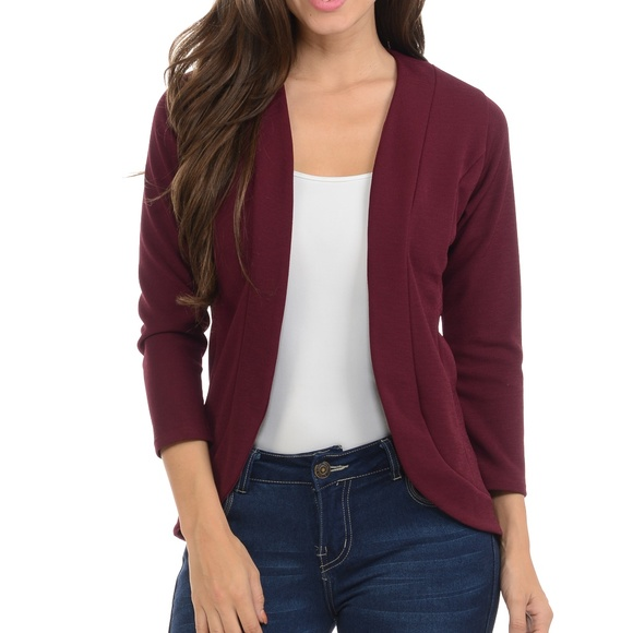 a6ef50e415096 Burgundy Fitted Blazer. Boutique. Magic Fit